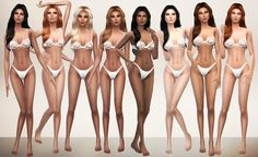 Female Skin by Los Sims 4 Mods, Sims 4 Body Mods, Sims 4 Mm, My Sims, Sims 4 Cc Folder, The Sims 4 Skin, Sims 4 Cc Makeup, Sims4 Clothes, Sims Hair