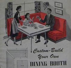 Oap on pinterest 1950s diner vintage diner and mid for Restaurant booth building plans