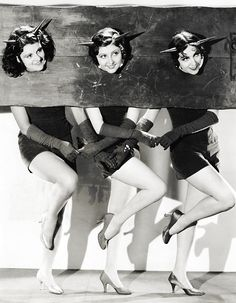 Paramount starlets Lillian Roth, Marion Shilling and Rosita Moreno photographed as Devils by Otto Dyar c. 1930s
