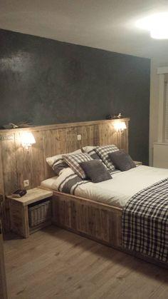slaapkamer   steigerhouten meubels door ekels timmerwerken   pinterest, Deco ideeën