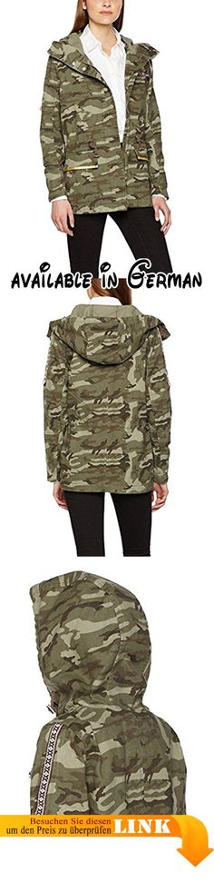 TOM TAILOR Denim Damen Mantel Decorated Military Parka Grün (Tarmac Khaki  7579), 38