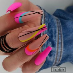 Fabulous Nails, Gorgeous Nails, Pretty Nails, Nail Swag, Nagellack Design, Fire Nails, Luxury Nails, Neon Nails, Best Acrylic Nails