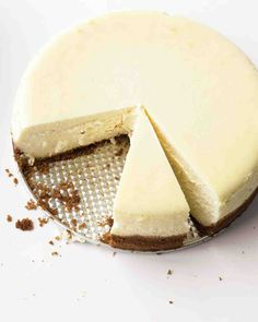 Classic Cheesecake recipe from Martha Stewart that gets raves. We can never resist a simple graham cracker crust.
