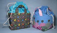 Make a Drawstring Bag with a Flat bottom