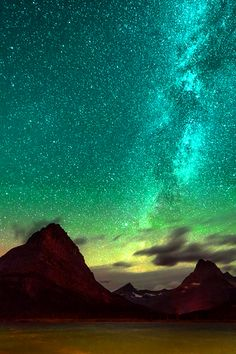 Green lights and stars....beautiful.                                                                                                                                                      More