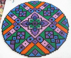 Fuse Beads Design Ideas | Beautiful hama perler beads mandala by Le plaisir du point de croix