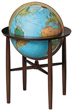 Replogle Globes, World Globes, Illuminated, Floor Stand, Beautiful ...