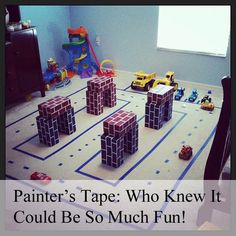 Fun ideas with painters tape!! Your children will LOVE this!