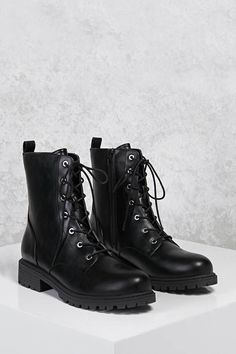 FOREVER 21 Faux Leather Combat Boots  teen teenage fashion style vacation beach college summer + spring womens outfits casual romper first day school fall + winter     Disclosure: Please note the link is an affiliate link which means-at zero cost to you-I might earn a commission if you buy something through my links.
