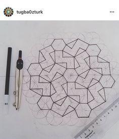 Islamic Designs, Islamic Patterns, Geometric Designs, Geometric Shapes, Geometry Pattern, Geometry Art, Sacred Geometry, Persian Motifs, Geometric Drawing