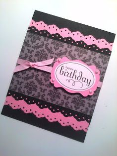 handmade birthday card ... black and hot pink ... simple design with wow factor from colors ...