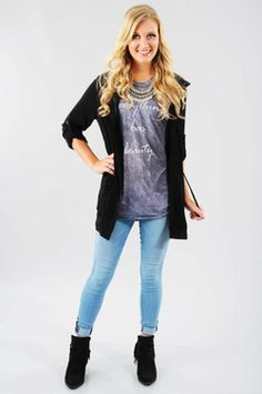Share to save 10% on  your order instantly!  Keep Me Warm Jacket: Black