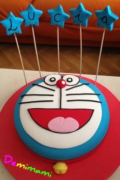 Tarta fondant Doraemon