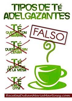 """""""Tipos de té adelgazante"""": ¿esto funciona?   Recetas Dukan Maria Martinez"""