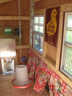Chicken Nest Box Curtains- Hens prefer to lay their eggs in a quiet, private, dark place.