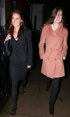 1/31/2008: Out for dinner, with Pippa Middleton (Kensington & Chelsea, London)