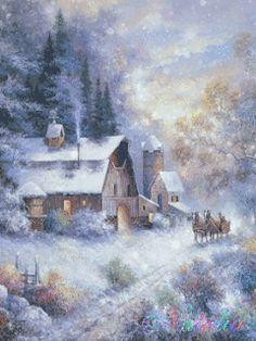 Winter Landscapes -Gif snow storm
