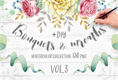 Wreaths and Bouquets collection V.3 by Eva-Katerina on @creativemarket