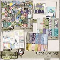 Hope Springs - The Bundle by Designworks Never Lose Hope, Spring Theme, Site Design, Traditional Art, Digital Scrapbooking, Digital Art, Studio, Website Designs, Studios