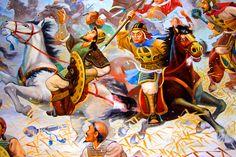 Korean heavy cavalry pursuing the retreating Mongols
