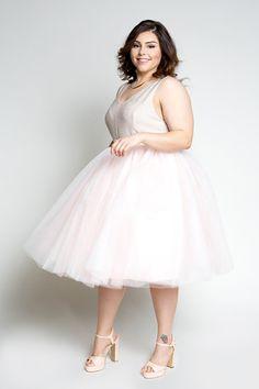 Plus Size Clothing for Women - Loey Lane Blush Tutu - Society+ - Society Plus - Buy Online Now! - 1 Wedding Dresses Plus Size, Plus Size Dresses, Plus Size Outfits, Plus Size Tutu, Plus Size Girls, Plus Size Formal, Look Plus Size, Curvy Women Outfits, Robes Tutu