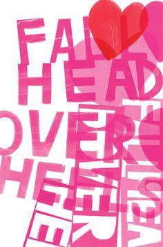 fall head over heels, portfolio print spring series, kate spade, illustrator jenny bowers