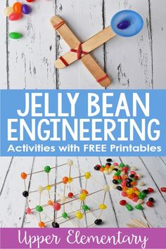 These spring engineering activities with jelly beans are engaging for the students, allow them to problem solve, and allow them to practice math skills.