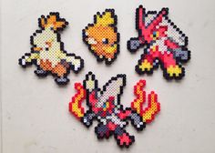Handmade perler Pokemon creations!  Feel free to request a shiny version of the Pokemon for no extra charge!    Here are the sizes:  Torchic -