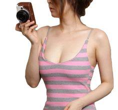 Amazon | セクシー ドレス ワンピース キャミソール ボディコン 【 収納袋 セット 】ロングワンピ 誘惑 胸元 キャミワンピース 各種カラー K260 (ブラック x ホワイト) | ワンピース・チュニック 通販