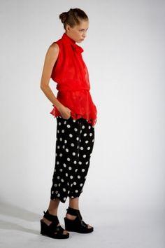 KAL RIEMAN : Silk Pleat Pant