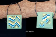 Reversible #polymerclay #necklace #summer