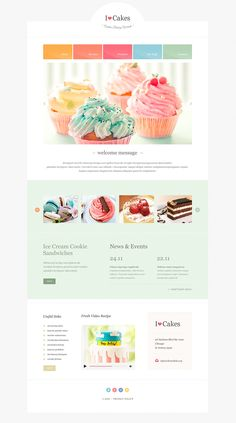 Website Layout Design - Understanding Its Components Layout Design, Food Web Design, Graphisches Design, Website Design Layout, Web Layout, Blog Design, Website Templates, Template Web, Website Design Inspiration