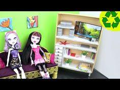 Cómo hacer un librero realista para tus muñecas - Manualidades para muñecas: - manualidadesconninos - YouTube