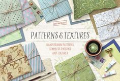Watercolor Patterns and Textures by Eva-Katerina on @creativemarket
