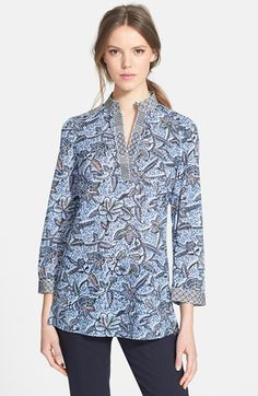 Tory Burch 'Stephanie' Cotton Tunic available at #Nordstrom