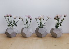 Hey, I found this really awesome Etsy listing at https://www.etsy.com/listing/181468396/concrete-geometric-minimalist-vase
