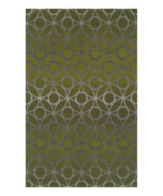 Look at this Dalyn Lime Zest Interlocking Tempo Rug on #zulily today!