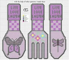 LIVE LAUGH LOVE * BUTTERFLIES CUTLERY by CG -- WALL HANGINGS