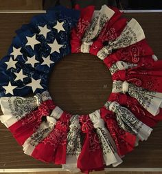 Finally my version of This July 4th wreath