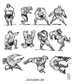 """Warm-up thumbnails 09/09/14 Some more random thumbnails to loosen up this morning. The """"model"""" got bigger and bigger by the end of it. -Norm"""