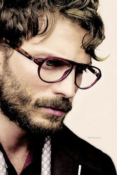 Jamie Dornan. One of Jamie's sexiest looks to date, with the glasses, thick beard and hot looking hair.