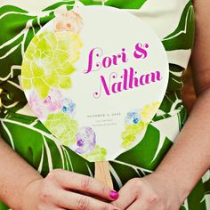 Bright, Vibrant Wedding Programs //  photo by: Katherine O'Brien Photography // Programs: The Creative Parasol