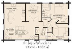 Small Log Cabin Floor Plans   COUNTRY COTTAGE FLOOR PLANS   House Design