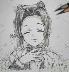Anime Drawings Sketches, Cool Art Drawings, Anime Sketch, Anime Character Drawing, Manga Drawing, Demon Slayer, Slayer Anime, Arte Copic, Desenhos Love