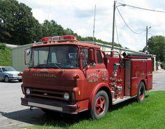 Vintage Chevrolet Fire Engine by hyperjet, via Flickr