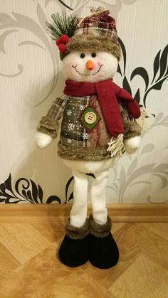 Christmas Tree Decor New Year Ornament Reindeer Snowman Santa Claus Standing Doll Home Decoration Merry Christmas Height Mary Christmas, Christmas Crafts, Christmas 2019, Holiday, Doll Home, Crafts To Make And Sell, Snowman Ornaments, Christmas Tree Decorations, Decorating Your Home