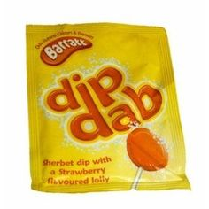 dip dab retro sweets. I had forgotten these. We used to buy them at the Tuck Shop across the street from my primary school