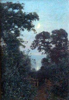 """Nikolay Dubovskoy: """"Moonlit Night"""", 1896, Oil on canvas, Location unknown."""