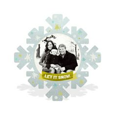 Photo Christmas Cards  -- Cut Out Snowflake http://www.peartreegreetings.com/Holiday-Cards/Christmas-Cards/2775-27174FC-Cut-Out-Snowflake--Christmas-Cards.pro