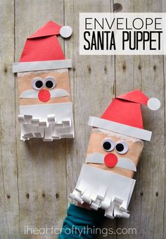 Simple And Fun Santa Envelope Puppet Crafts For ChristmasSanta